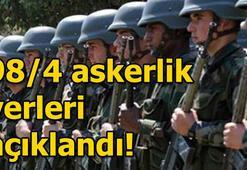 Askerlik yerleri açıklandı 98/4 Kasım Celp dönemi ( E - devlet giriş )