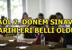 Açık Lise ikinci dönem sınavları ne zaman 2019 AÖL sınav tarihleri