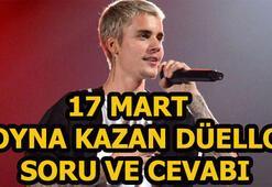 Oyna Kazan düeollo sorusu ve cevabı (17 Mart) Justin Bieber nerede doğmuştur