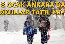 Ankarada okullar tatil mi (8 Ocak Salı) Ankara Valiliği açıklama yaptı mı