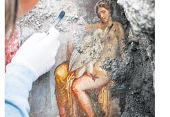 Leda ve Zeus şehveti aşk freskinde