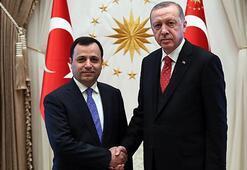 Cumhurbaşkanı Erdoğan, Anayasa Mahkemesi Başkanı Arslanı kabul etti