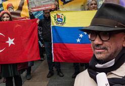 Kadıköyde Venezuelaya destek eylemi Türkçe teşekkür etti