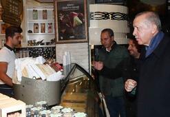 Cumhurbaşkanı Erdoğan, Beylerbeyinde bir pastaneden alışveriş yaptı