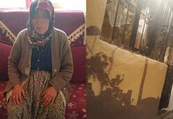 Hırsızlık için girdi, yaşlı kadına saldırdı
