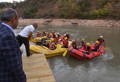 Tuncelide Türkiyenin ilk rafting eğitim merkezi