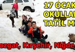 Yozgat, Kırşehir, Niğdede okullar tatil mi 17 Ocak Perşembe