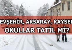 Nevşehir, Aksaray, Kayseride okullar tatil mi 17 Ocak Perşembe