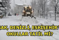 Uşak, Denizli, Eskişehirde bugün okullar tatil mi