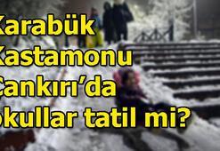 Karabük, Kastamonu, Çankırıda 17 Ocakta okullar tatil mi