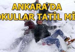 Ankarada bugün okullar tatil mi 7 Ocak Pazartesi hangi okullarda kar tatili