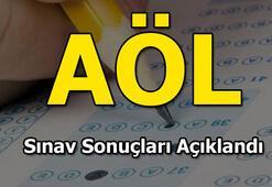 AÖL sınav sonuçları açıklandı MEB AÖL sonuçları sorgula