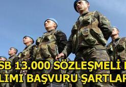 Kara Kuvvetleri Komutanlığı 13.000 sözleşmeli er başvuru şartları nelerdir