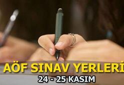 AÖF 24-25 Kasım sınav giriş yerleri sorgula AÖF vize sınavları