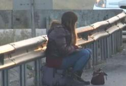 TEM Otoyolunda korkutan kaza Genç kız şoka girdi…