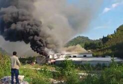 Sürmenede fabrika yangını