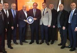 1.Lig Kulüpler Birliğinden TFF Başkanı Demirörene ziyaret