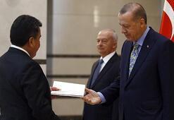 Cumhurbaşkanı Erdoğan, Peru Büyükelçisini kabul etti