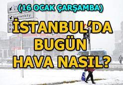 İstanbulda bugün hava nasıl 16 Ocak İstanbul hava durumu