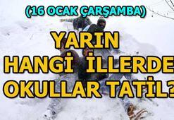 16 Ocak yarın hangi illerde okullar tatil Bursa, Kocaeli, Eskişehir okullar tatil mi