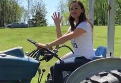 Jennifer Garner çiftçi oldu, traktör sürdü