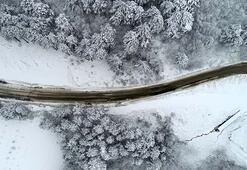 Uludağdan kar manzaraları