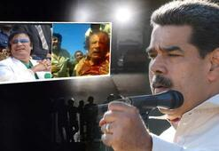 Maduroya Kaddafi fotoğrafıyla tehdit