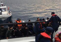 Sahil Güvenlik Komutanlığı son 1 haftada 497 düzensiz göçmen ve 1 göçmen kaçakçısı yakaladı