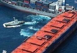 Kuzey Ege Denizinde iki gemi çarpıştı