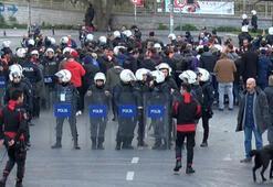 Trabzonsporlu taraftarlar arasındaki arbedede 2 polis yaralandı