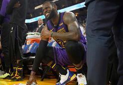 Lakers kazandı ama Lebron sakatlandı