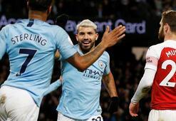 Manchester City, Arsenali yıktı Agüero yıldızlaştı...