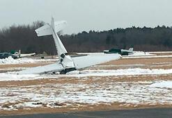 Uçak düştü Feci görüntüler...