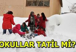 Son dakika kar yağışı sebebiyle İstanbulda okullar tatil olacak mı