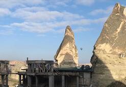 Kapadokya'daki otel inşaatı durduruldu
