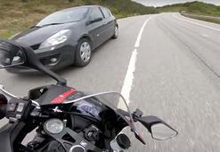 İstanbulda lüks araç ile motosikletin yarışı facia ile bitiyordu