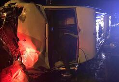 Hentbol takımını taşıyan minibüs devrildi: 15 yaralı