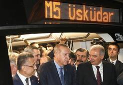Üsküdar-Çekmeköy-Sancaktepe metro hattının ikinci etabı açıldı