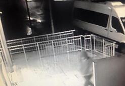 Silahlı soygun saniye saniye görüntülendi