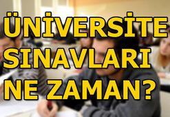 Üniversite sınavları ne zaman ÖSYM YKS takvimini yayınladı...