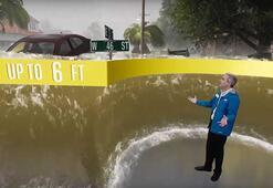 Florence Kasırgasının sel simülasyonu durumun ciddiyetini ortaya koydu