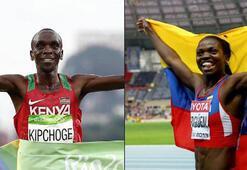 Yılın atletleri erkeklerde Kipchoge, kadınlarda Ibarguen oldu