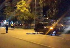 Otomobil çarptı, cip üstünden geçti Korkunç ölüm…