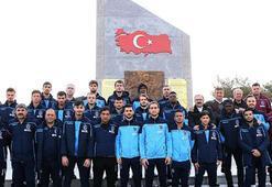 Trabzonspordan Seyit Onbaşının kabrine ziyaret