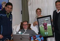 Trabzonspordan eski futbolcu İsmail Gökçeke ziyaret
