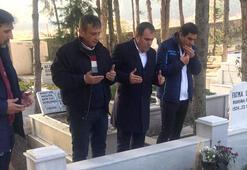 Trabzonspordan Turgut Uçarın kabrine ziyaret