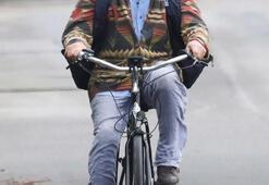 78 yaşında bisiklet tepesinde