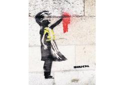 Sarı yelekli Banksy