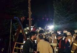 İstanbul Çekmeköyde askeri helikopter düştü: Olay yerinden ilk görüntüler