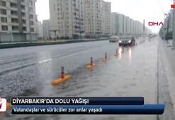 Diyarbakırda dolu yağışı zor anlar yaşattı